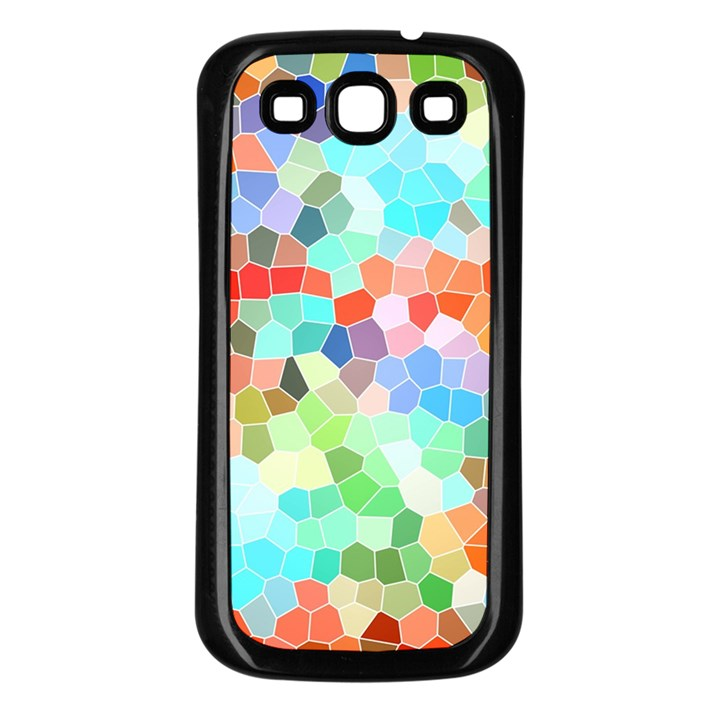 Colorful Mosaic  Samsung Galaxy S3 Back Case (Black)
