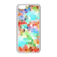 Colorful Mosaic  Apple Iphone 5c Seamless Case (white) by designworld65