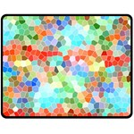 Colorful Mosaic  Double Sided Fleece Blanket (Medium)  58.8 x47.4 Blanket Back