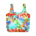 Colorful Mosaic  Full Print Recycle Bags (M)  Back