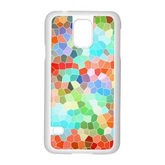 Colorful Mosaic  Samsung Galaxy S5 Case (white) by designworld65