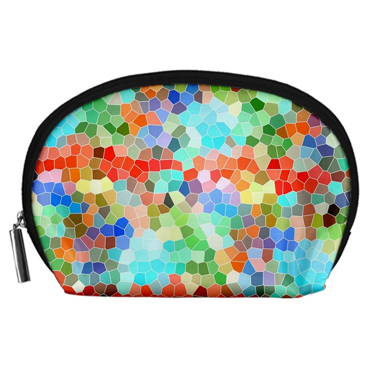 Colorful Mosaic  Accessory Pouches (Large)