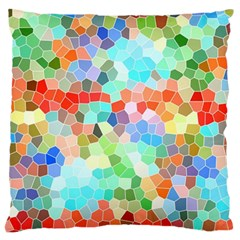 Colorful Mosaic  Large Flano Cushion Case (two Sides) by designworld65