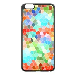 Colorful Mosaic  Apple Iphone 6 Plus/6s Plus Black Enamel Case by designworld65