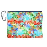 Colorful Mosaic  Canvas Cosmetic Bag (XL)