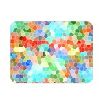 Colorful Mosaic  Double Sided Flano Blanket (Mini)  35 x27 Blanket Back