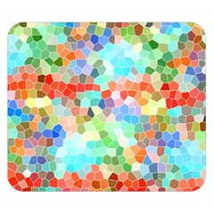 Colorful Mosaic  Double Sided Flano Blanket (small)  by designworld65