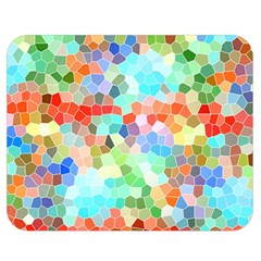 Colorful Mosaic  Double Sided Flano Blanket (medium)
