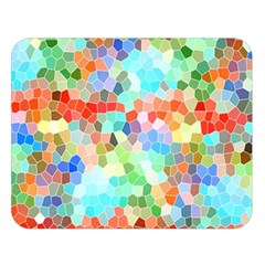 Colorful Mosaic  Double Sided Flano Blanket (large)  by designworld65