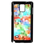 Colorful Mosaic  Samsung Galaxy Note 4 Case (Black) Front