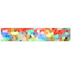Colorful Mosaic  Flano Scarf (large) by designworld65