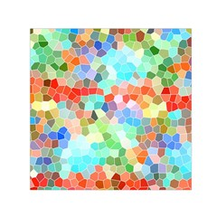 Colorful Mosaic  Small Satin Scarf (square) by designworld65
