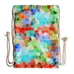 Colorful Mosaic  Drawstring Bag (Large) Back