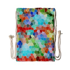 Colorful Mosaic  Drawstring Bag (small) by designworld65