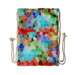 Colorful Mosaic  Drawstring Bag (Small)