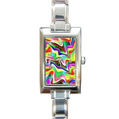 Irritation Colorful Dream Rectangle Italian Charm Watch