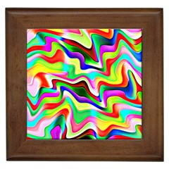 Irritation Colorful Dream Framed Tiles by designworld65