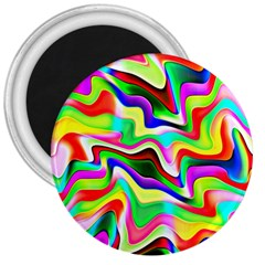 Irritation Colorful Dream 3  Magnets by designworld65