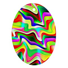 Irritation Colorful Dream Ornament (Oval)