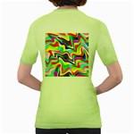 Irritation Colorful Dream Women s Green T-Shirt Back