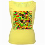 Irritation Colorful Dream Women s Yellow Tank Top Front