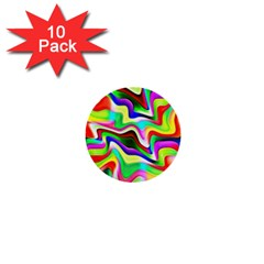 Irritation Colorful Dream 1  Mini Buttons (10 pack)