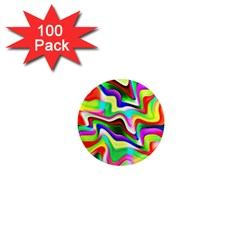 Irritation Colorful Dream 1  Mini Magnets (100 Pack)  by designworld65