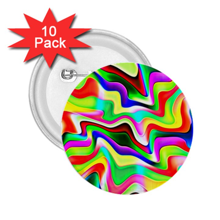 Irritation Colorful Dream 2.25  Buttons (10 pack)