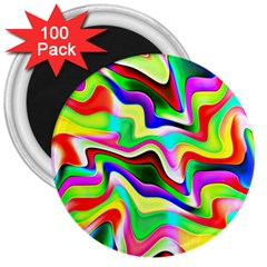 Irritation Colorful Dream 3  Magnets (100 Pack) by designworld65