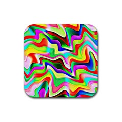 Irritation Colorful Dream Rubber Square Coaster (4 pack)