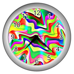 Irritation Colorful Dream Wall Clocks (silver)