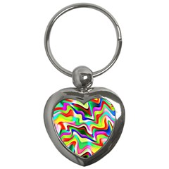 Irritation Colorful Dream Key Chains (heart)  by designworld65