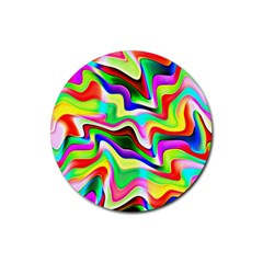Irritation Colorful Dream Rubber Round Coaster (4 pack)