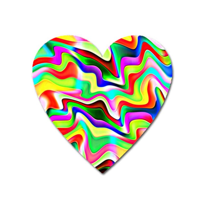 Irritation Colorful Dream Heart Magnet