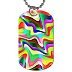 Irritation Colorful Dream Dog Tag (Two Sides) Back