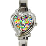 Irritation Colorful Dream Heart Italian Charm Watch Front