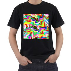 Irritation Colorful Dream Men s T-Shirt (Black) (Two Sided)