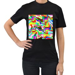 Irritation Colorful Dream Women s T-Shirt (Black) (Two Sided)