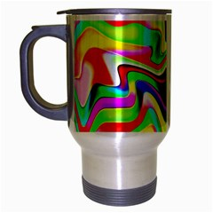 Irritation Colorful Dream Travel Mug (Silver Gray)