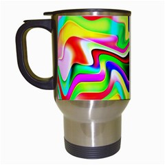 Irritation Colorful Dream Travel Mugs (White)