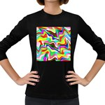 Irritation Colorful Dream Women s Long Sleeve Dark T-Shirts Front