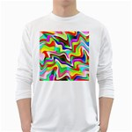 Irritation Colorful Dream White Long Sleeve T-Shirts Front