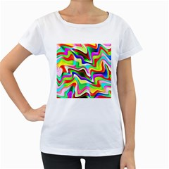Irritation Colorful Dream Women s Loose Fit T Shirt (white) by designworld65