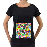 Irritation Colorful Dream Women s Loose-Fit T-Shirt (Black)