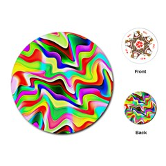 Irritation Colorful Dream Playing Cards (Round)