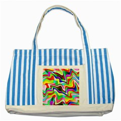 Irritation Colorful Dream Striped Blue Tote Bag