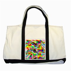 Irritation Colorful Dream Two Tone Tote Bag by designworld65