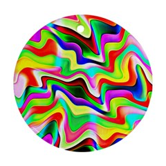 Irritation Colorful Dream Round Ornament (Two Sides)