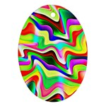 Irritation Colorful Dream Oval Ornament (Two Sides) Front