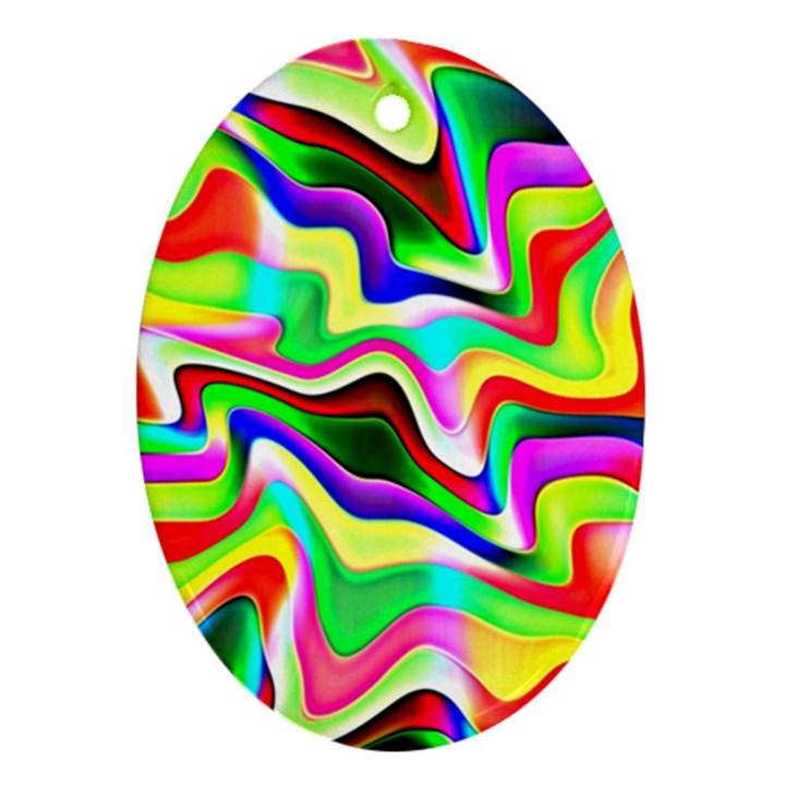 Irritation Colorful Dream Oval Ornament (Two Sides)